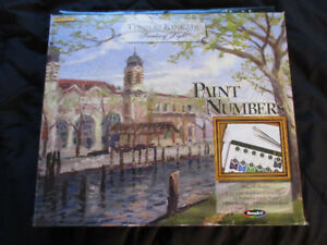 Paint by numbers kit, Thomas Kinkade, Ellis Island, new in box