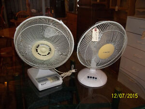 "Two (2) Table Top Fans 12"" Variable Speed/Oscillating"