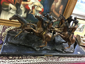 "Copy of  the ""Old dragoons"" bronze by Frederic Remington"