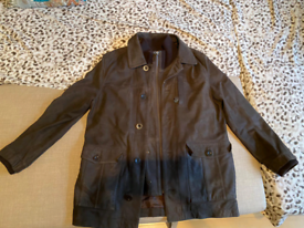 John Rocha winter leathet brown jacket