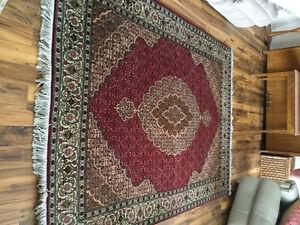 Tabriz wool handknotted rug