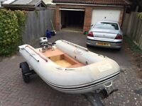 Wetline 320 Rib with trailer and outboard