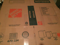 one day use Home depot size assortment of moving boxes (80)