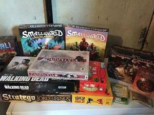 Board games! Will sell separately.