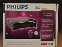 Philips DVR 500 gb, freeview HD recorder