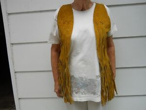 Suede Vests from Alcapulco, Mexico.