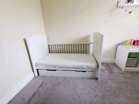 Mamas & papas cot bed with draw & baby changing table