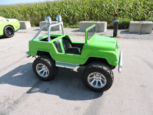 Carter Brothers Mini-Monster Jeep  go-cart. Gas powered