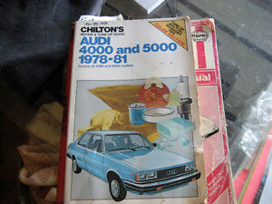 chilton's repair manual   audi 4000-5000