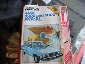 chilton's repair manual   audi 4000-5000