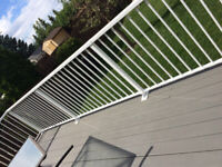 Quality WELDED exterior aluminum railings supply and install.