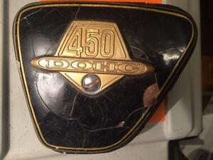 1973 1974 Honda CB450 Sidecovers & Badges Regina Regina Area image 2
