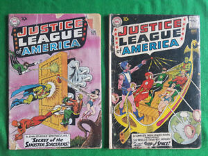 JUSTICE LEAGUE of AMERICA COMIC BOOKS Issues # 2 &  3
