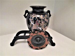 Vintage Japanese Vase & Cart