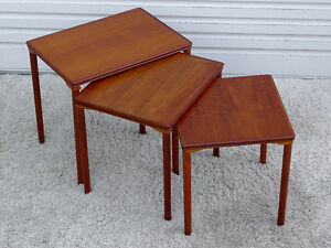 Mid Century Modern Danish Teak Nesting Tables by Toften