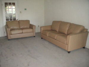 """Raw-Hide"" 100% Leather Sofa Set, Paid Over $6500, Can Deliver"