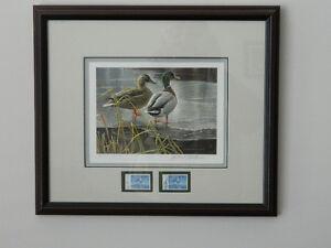 Signed Robert Bateman Duck Prints and National Wildlife Stamps Cambridge Kitchener Area image 1