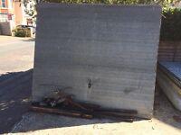 Free scrap metal garage doors x3 plus some fixings