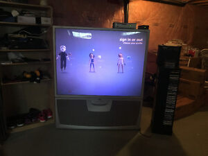 "60"" RCA Rear projection with Xbox 360 console"