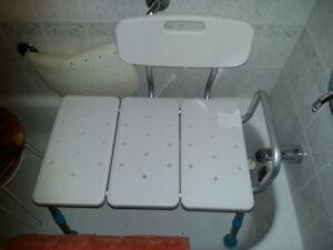 siège / banc de transfert pour le bain