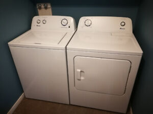 Laveuse et Secheuse Amana / Amana Washer and Dryer