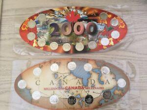 Collection du Millenaire Pièces de 25 cents de chaque mois