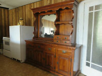 Beautiful Colonial Buffet and Hutch For Sale