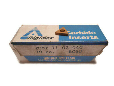 Rigidex Tcmt 110204g Rc60 Carbide Inserts Tin Coated 10 Pieces