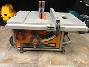 Ridgid 10-inch Portable Jobsite Table Saw