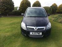 2011 11 Vauxhall Zafira 1.7TD ( 108bhp ) ( Special Model ) Excite Diesel Black.