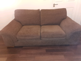 2 seater sofa / Brown / Good Condition