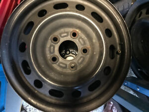 "Steel tire rims 15"" good for snows formally on Honda Civic"