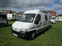 Hillsider two berth campervan with end lounge for sale