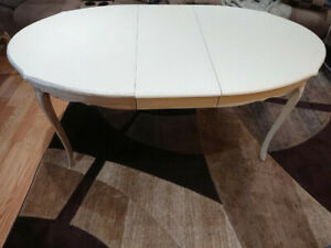 Antique expandable table & 4 chairs