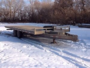 22' hydraulic deck over trailer