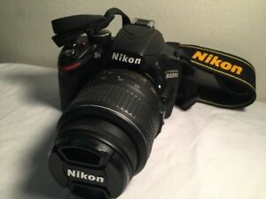 """Nikon D3200 DSLR"" with 18-55 VRII Lens, Strap, Accessories"
