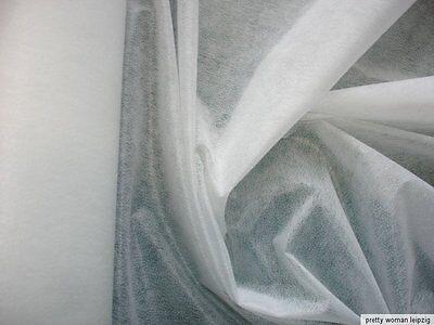 3 Laufmeter Vliseline 0,74€/m² zum aufbügeln weiß 7