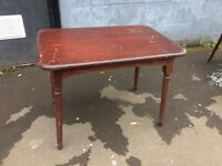 ANTIQUE VINTAGE SOLID TIMBER TABLE