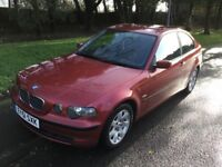 2001 BMW 316 SE Compact-1 previous owner-74,000-full history-July 2018 mot