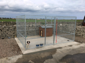Galvanised dog pens and cages