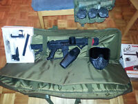 Rarely Used Tippmann A-5 Semi-Auto with Vest, Gear & Bag
