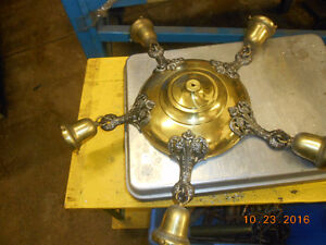2 very old brass hanging lights Kitchener / Waterloo Kitchener Area image 1