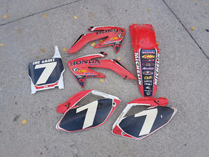 Honda 250 CRF complete plastic replacement kit RED