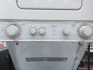 Whirlpool thin twin stacking washer dryer set