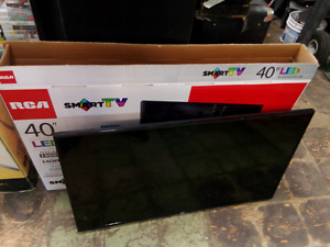 "RCA 40"" LED smart TV in box"