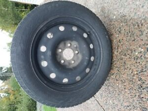 Four 205/55R16 Hercules Winter Tires & Rims