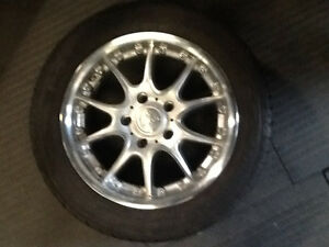 Keskin rims with like new Bridgestone tires