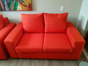 Divans (causeuses et fauteuils) oranges