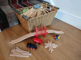 HUGE bundle of wooden train track