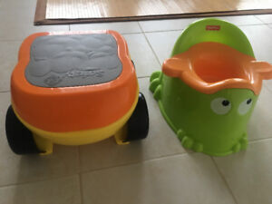 Potty and Step Stool (Fisher Price & Safety 1st)